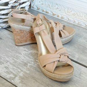 ANTONIO MELANI Shoes - EUC ANTONIO MELANI LEATHER KNOTTED WEDGE SANDAL